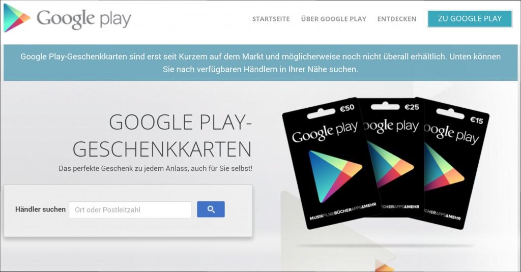 Wo bekomme ich Google Play Geschenkkarten?