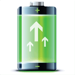 Battery Booster Pro – Prozentanzeige und Restlaufzeit des Akkus auf dem Startbildschirm