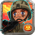 Toy Patrol: 3rd person shooter. Tiny commando with machine gun shoots stupid zombies