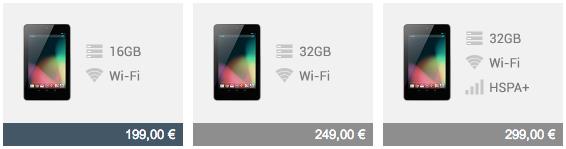 Google hat es getan: Ab sofort gibt es das Nexus 7 mit 16 GB zum Preis von 8 GB und weitere Neuvorstellungen