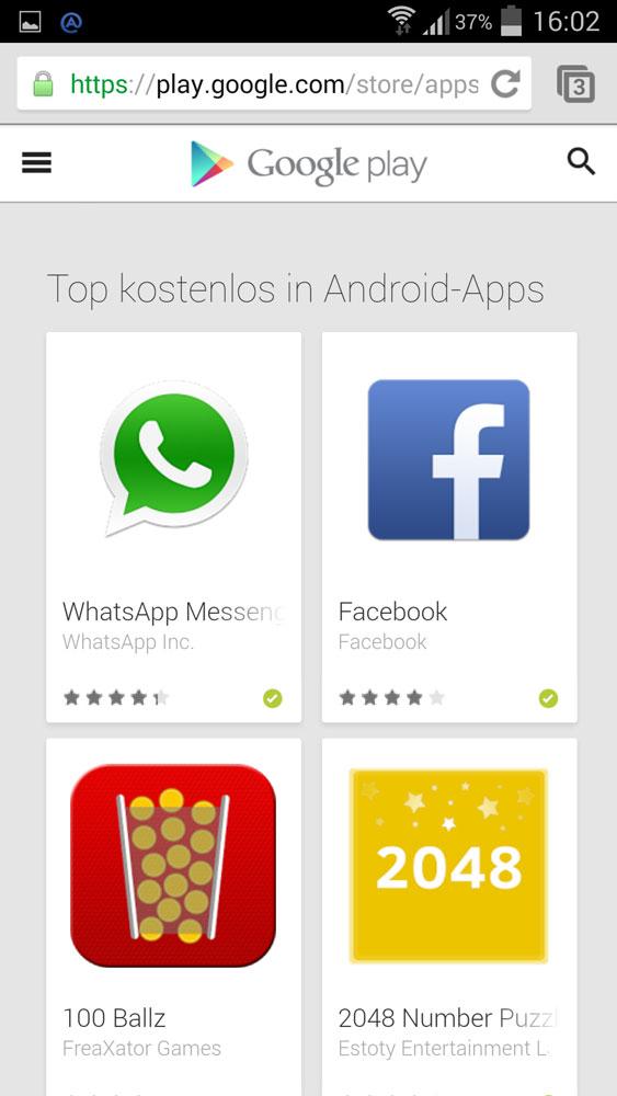 Der Play Store hat jetzt eine mobile Web-Version