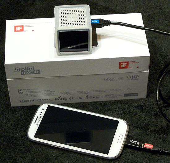 Rollei Innocube IC200T/IC200C – Kleiner Beamer für Android Phones und Tablets