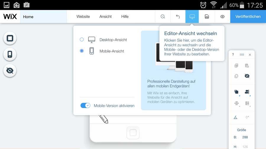 mobile webseite erstellen